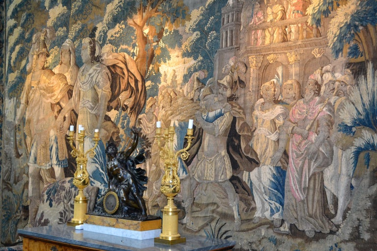 Baroque Exceptional 17th Century Flemish Verdure and Mythological Tapestry For Sale