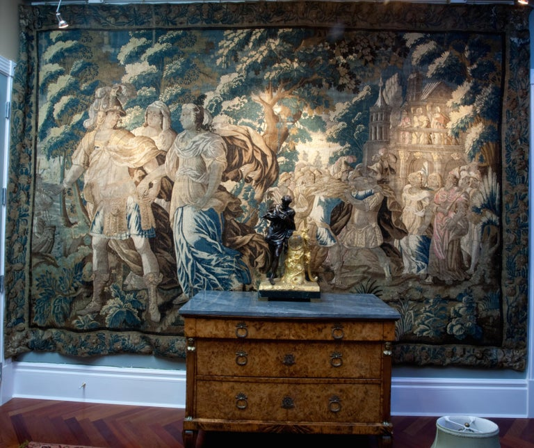 Wool Exceptional 17th Century Flemish Verdure and Mythological Tapestry For Sale