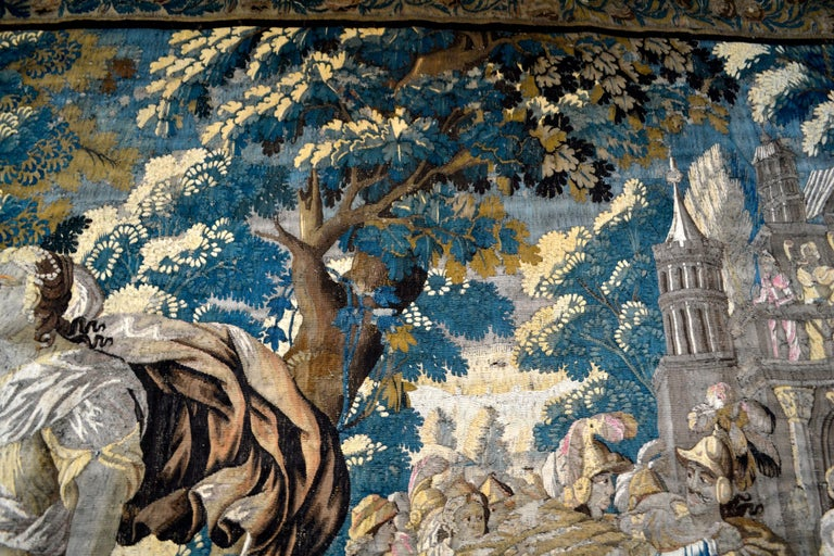 Exceptional 17th Century Flemish Verdure and Mythological Tapestry For Sale 1