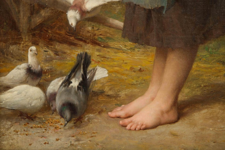 Late 19th Century Exceptional French Oil on Canvas,