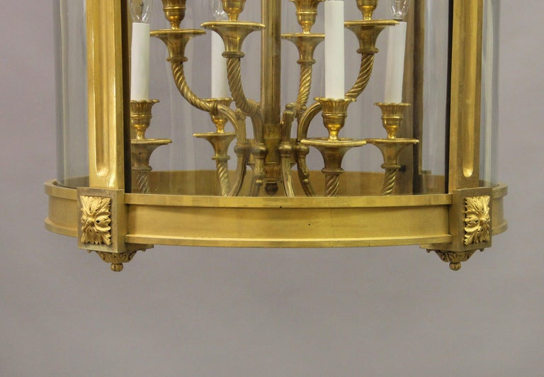Exceptional Late 19th Century Gilt Bronze Palatial Eight Light Lantern For Sale 2
