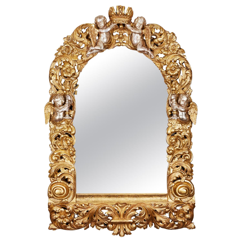 Crystal Florida Harp on Mirror New in Box Beautiful 24/% lead crystal harp 1402,