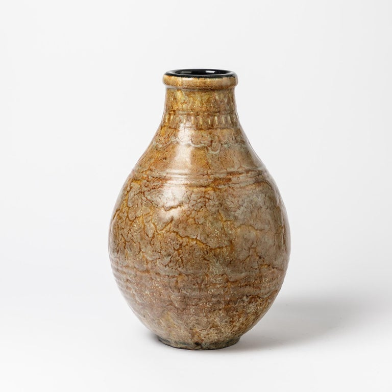 An exceptional ceramic vase by Émile Decoeur. Perfect original conditions. Signed under the base, circa 1927.