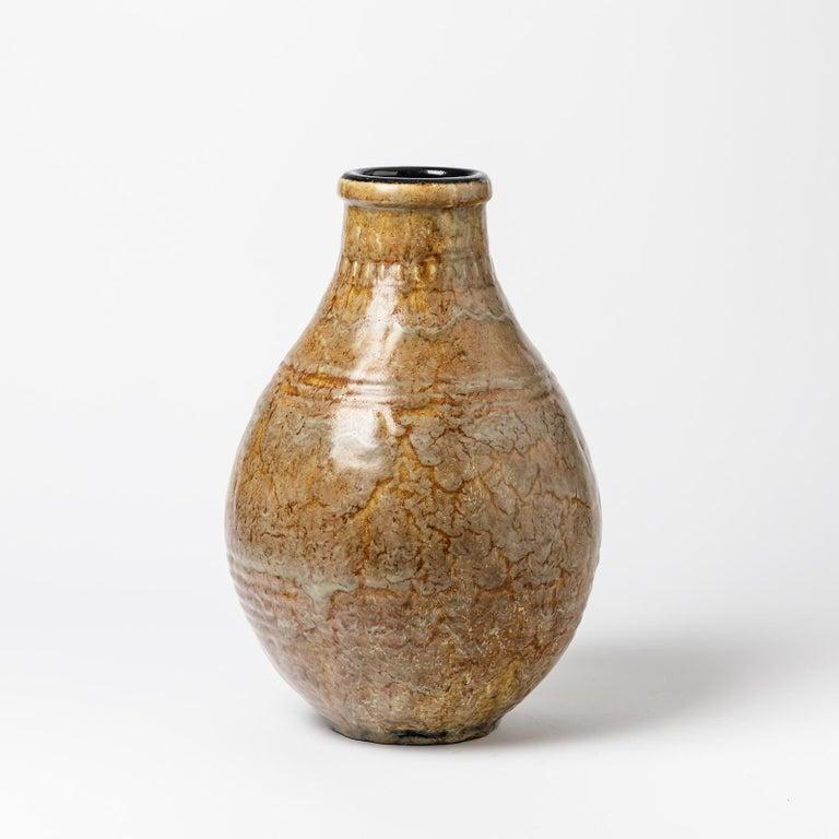 Art Deco Exceptional Ceramic Vase by Émile Decoeur, circa 1927 For Sale