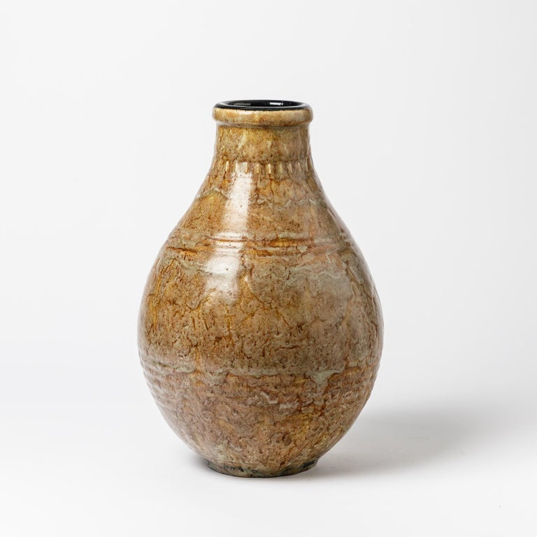 French Exceptional Ceramic Vase by Émile Decoeur, circa 1927 For Sale