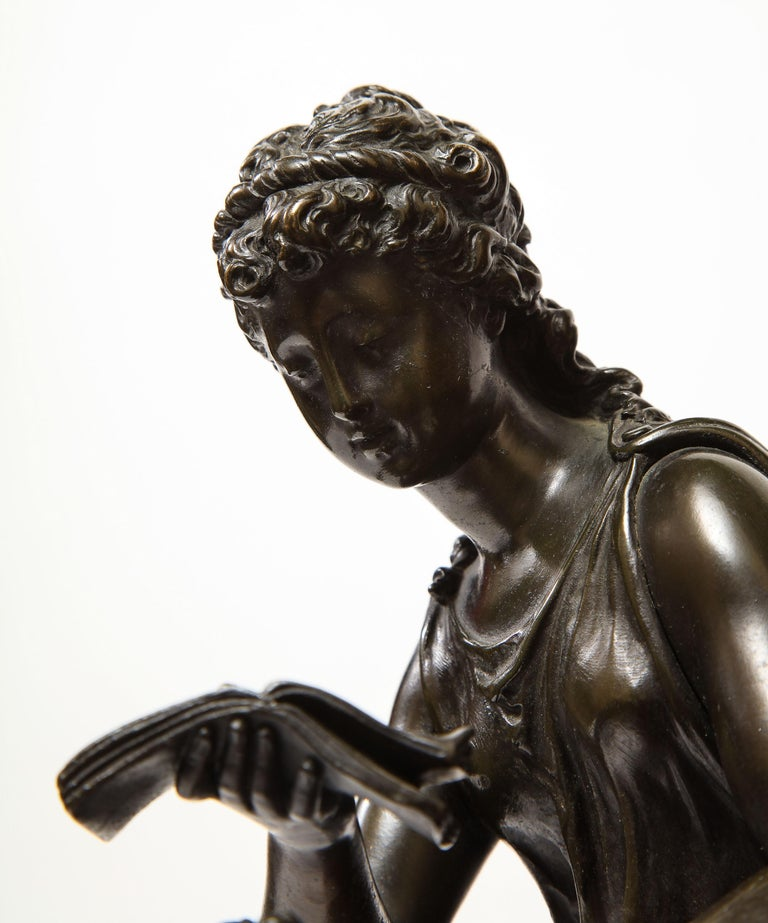 19th Century Exquisite French Bronze, Rouge Marble, and Sèvres Style Porcelain Sculpture For Sale