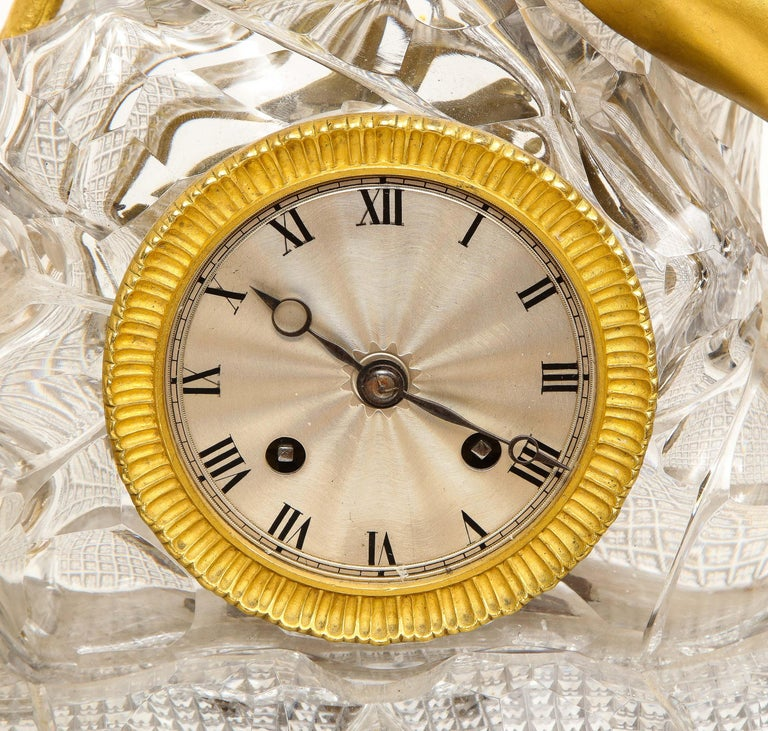 Exquisite French Empire Ormolu and Cut-Crystal Clock, c. 1815 For Sale 15