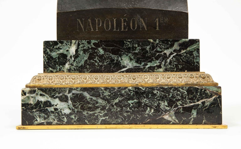Exquisite French Patinated Bronze Bust of Emperor Napoleon I, after Canova For Sale 1