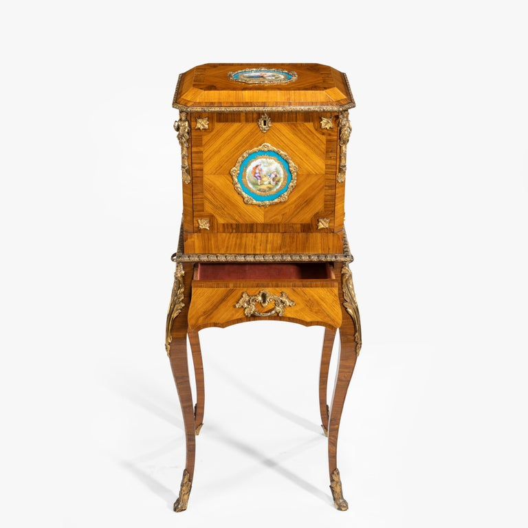 Exquisite Jewel Casket in the Louis XV Manner For Sale 7