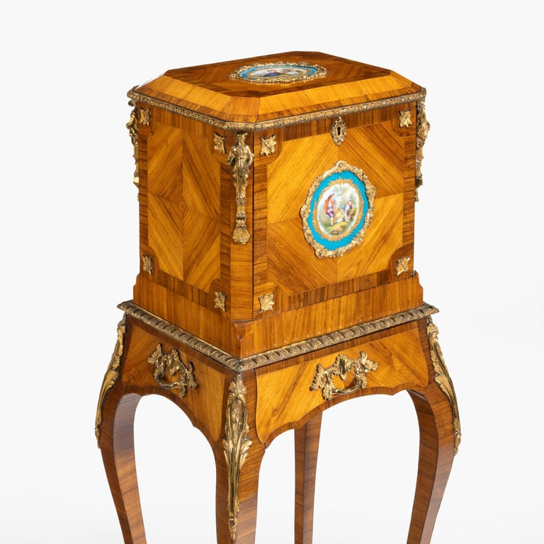 Gilt Exquisite Jewel Casket in the Louis XV Manner For Sale