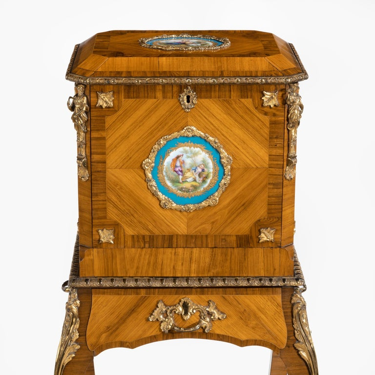 19th Century Exquisite Jewel Casket in the Louis XV Manner For Sale