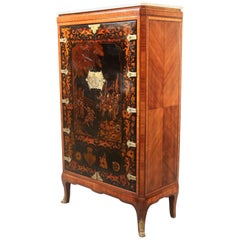Exquisite Late 19th Century Gilt Bronze Mounted Chinoiserie Cabinet