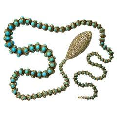 Extraordinary Victorian Snake Necklace