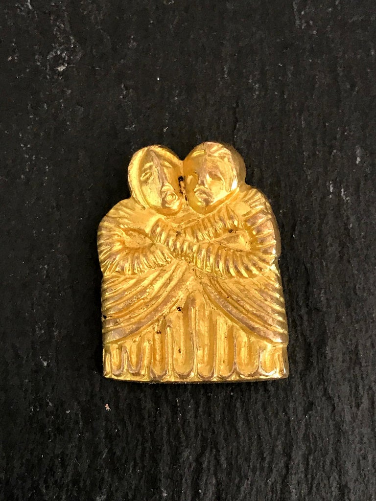 French Vintage Bronze Brooch by Line Vautrin For Sale 2