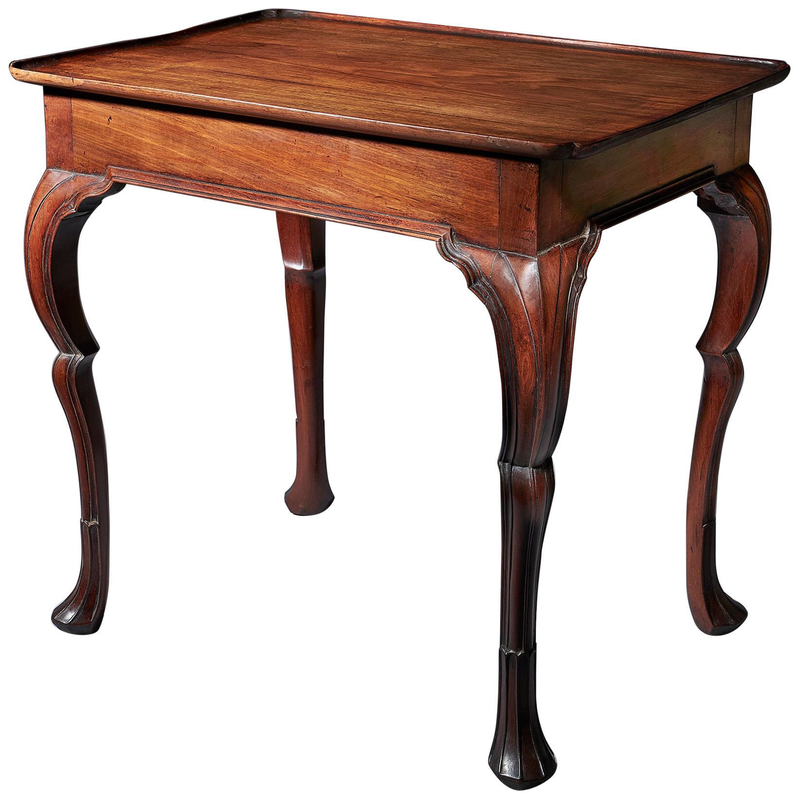 Important 18th Century Mahogany Irish Silver or Tea Table, circa 1740-1760