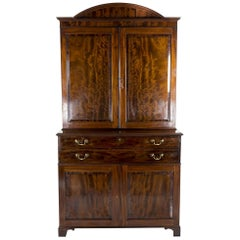 Important George III Mahogany Press Cupboard by Isaac Greenwood for Gillows