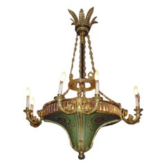 An Important Neoclassical Style Eight Light Chandelier