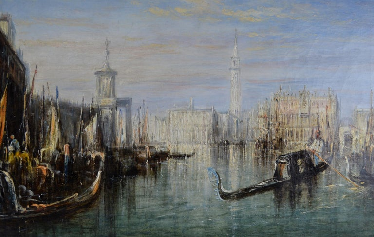 English Impressionist Painting of the Grand Canal in Venice by Francis Moltino For Sale