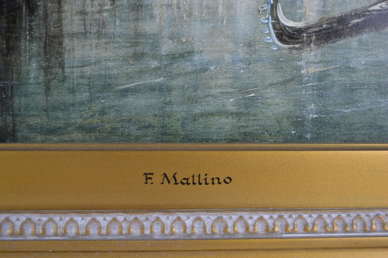 Painted Impressionist Painting of the Grand Canal in Venice by Francis Moltino For Sale