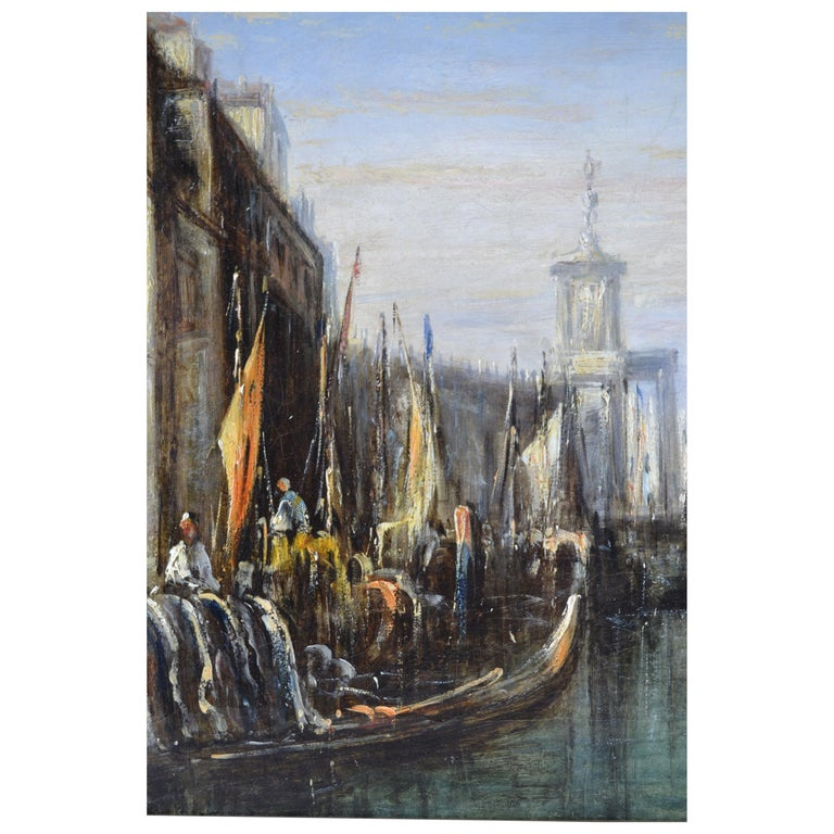 Impressionist Painting of the Grand Canal in Venice by Francis Moltino In Good Condition For Sale In Vancouver, British Columbia