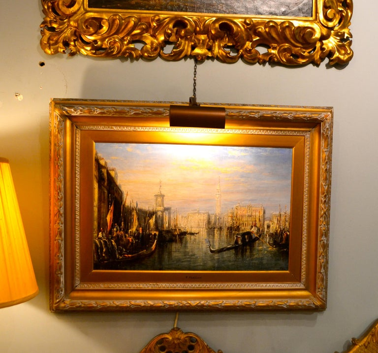 19th Century Impressionist Painting of the Grand Canal in Venice by Francis Moltino For Sale