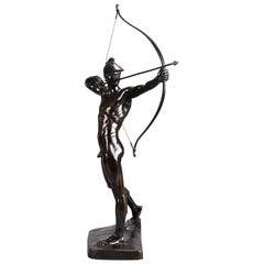 Impressive Bronze Study Entitled 'Bogenschutze' by E M Geyger