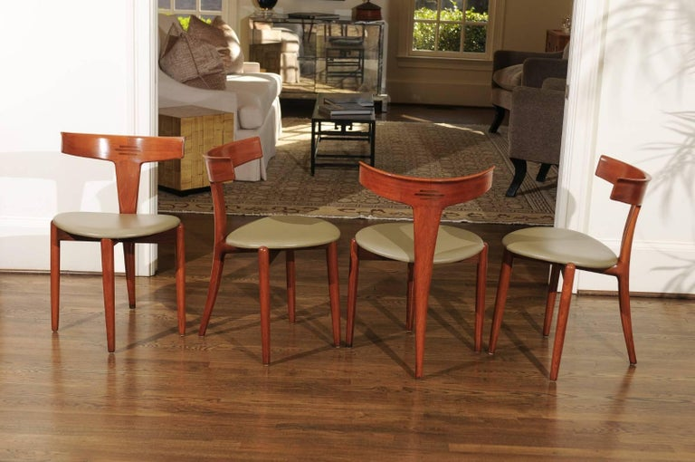 Incomparable Set of Ten Dining Chairs by Erik Andersen and Palle Pedersen For Sale 4