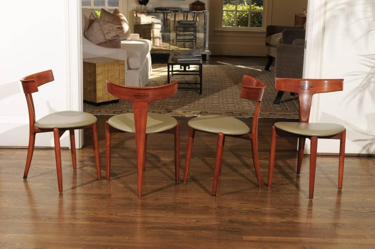 Incomparable Set of Ten Dining Chairs by Erik Andersen and Palle Pedersen For Sale 5