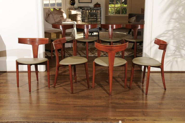 Incomparable Set of Ten Dining Chairs by Erik Andersen and Palle Pedersen For Sale 7