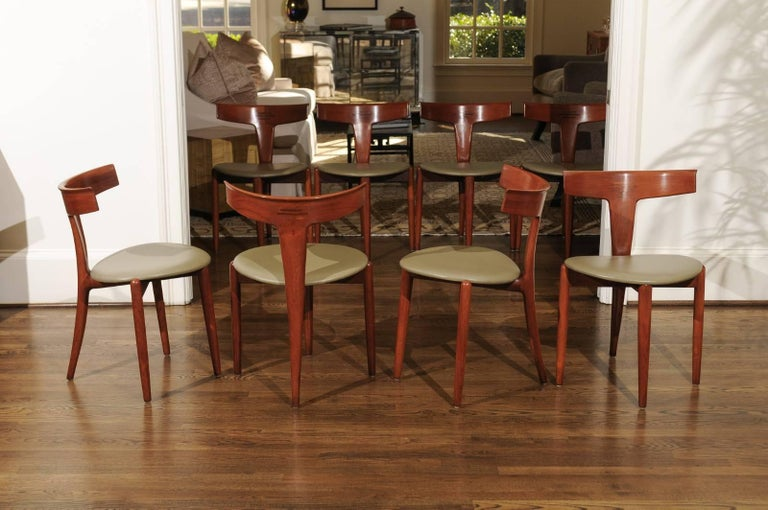 Incomparable Set of Ten Dining Chairs by Erik Andersen and Palle Pedersen For Sale 8