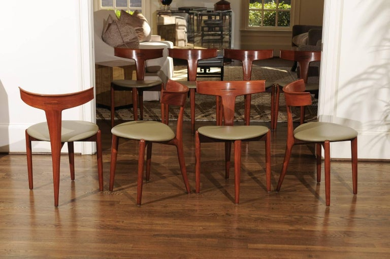 Incomparable Set of Ten Dining Chairs by Erik Andersen and Palle Pedersen For Sale 9