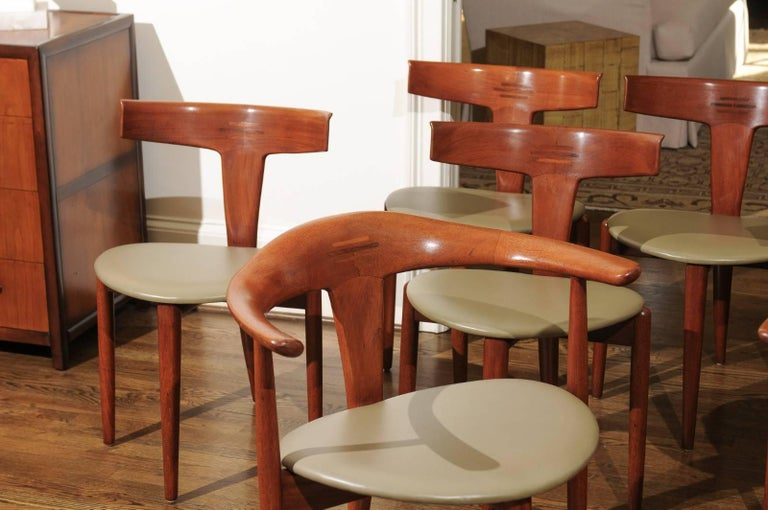 Incomparable Set of Ten Dining Chairs by Erik Andersen and Palle Pedersen For Sale 12
