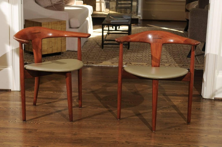 Mid-Century Modern Incomparable Set of Ten Dining Chairs by Erik Andersen and Palle Pedersen For Sale