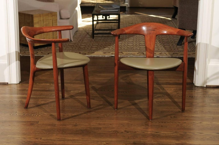 Danish Incomparable Set of Ten Dining Chairs by Erik Andersen and Palle Pedersen For Sale