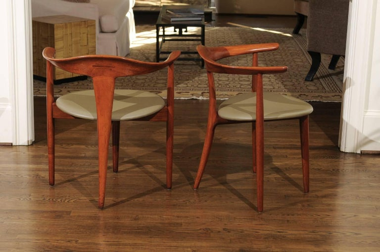 Incomparable Set of Ten Dining Chairs by Erik Andersen and Palle Pedersen In Excellent Condition For Sale In Atlanta, GA