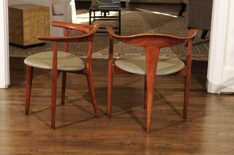 Mid-20th Century Incomparable Set of Ten Dining Chairs by Erik Andersen and Palle Pedersen For Sale