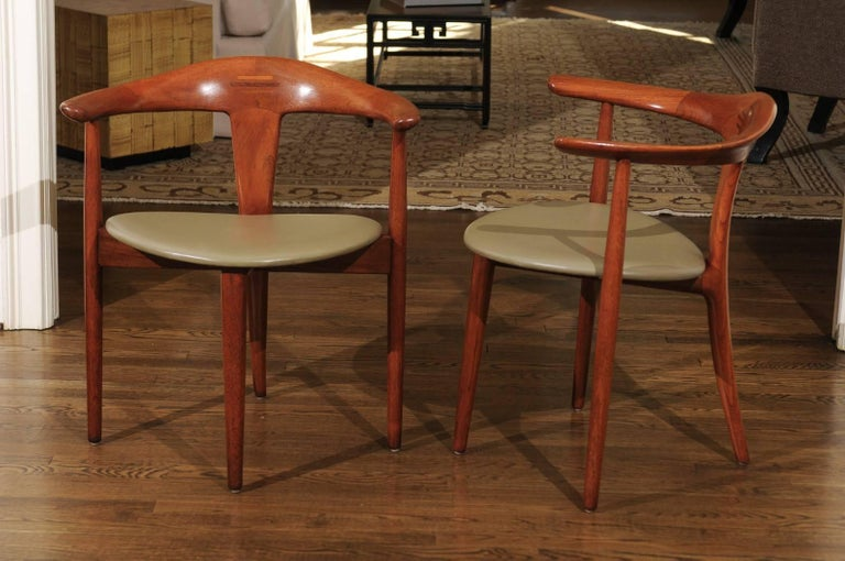 Teak Incomparable Set of Ten Dining Chairs by Erik Andersen and Palle Pedersen For Sale