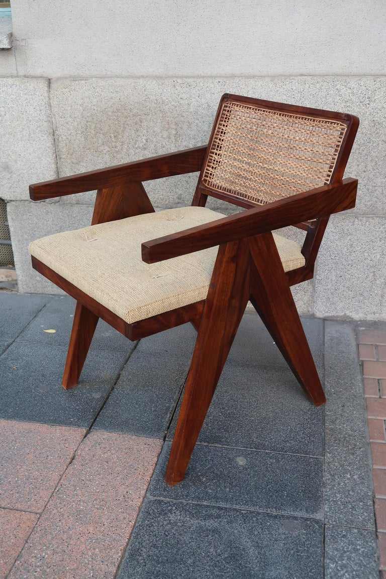 Fabulous Indian Rosewood And Bamboo Modern Chair In The Style Of Jeanneret Chandigarh Pdpeps Interior Chair Design Pdpepsorg