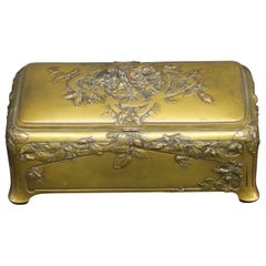 Interesting Late 19th Century Gilt Bronze Jewelry Box