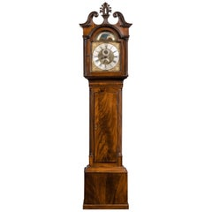 Irish George III Period Mahogany Longcase Clock