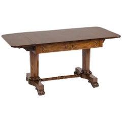 Irish Regency Rosewood Sofa Table, circa 1830