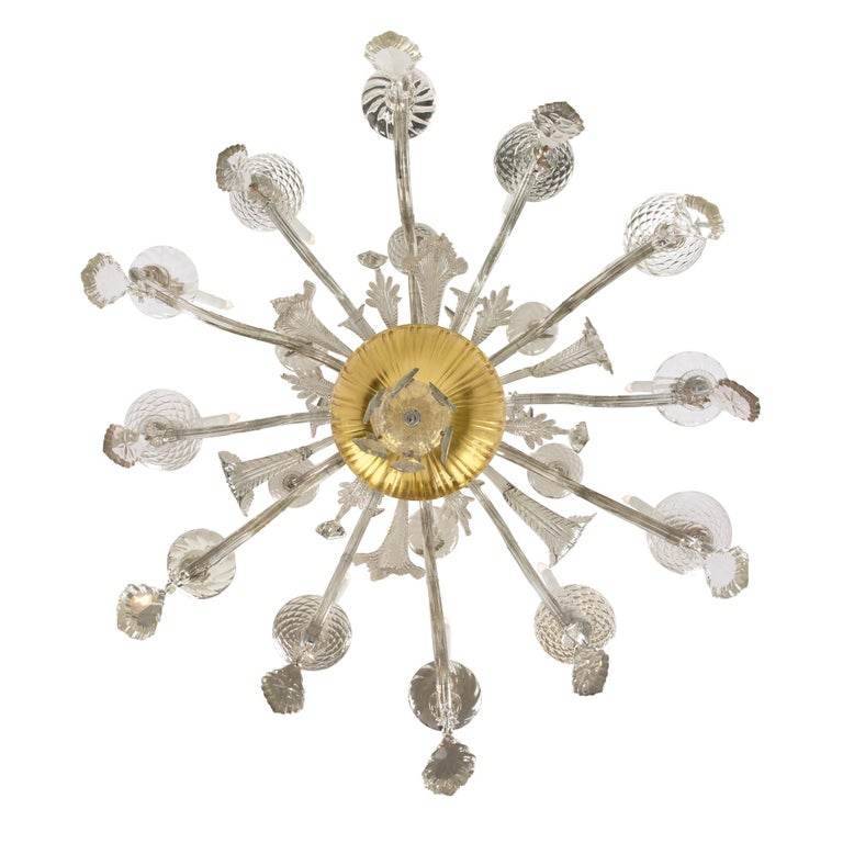 Italian 18th Century Glass and Gilt Eighteen Light Tuscan Chandelier For Sale 4