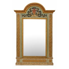 An Italian 18th Century Louis XVI Period Giltwood Mirror from Milan