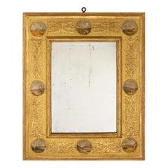 Italian 18th Century Louis XVI Period Rectangular Giltwood Mirror