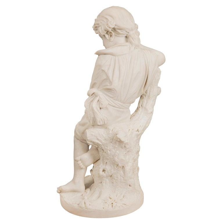 Italian 19th Century Carrara Statue of Benjamin Franklin, Signed Bazzanti For Sale 7