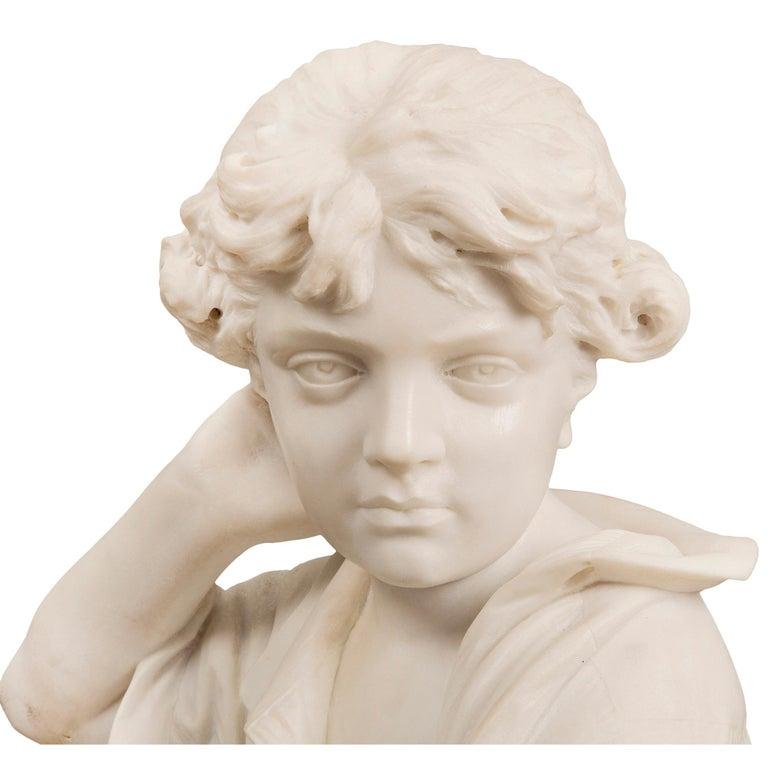 Italian 19th Century Carrara Statue of Benjamin Franklin, Signed Bazzanti For Sale 1