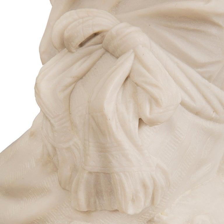 Italian 19th Century Carrara Statue of Benjamin Franklin, Signed Bazzanti For Sale 3