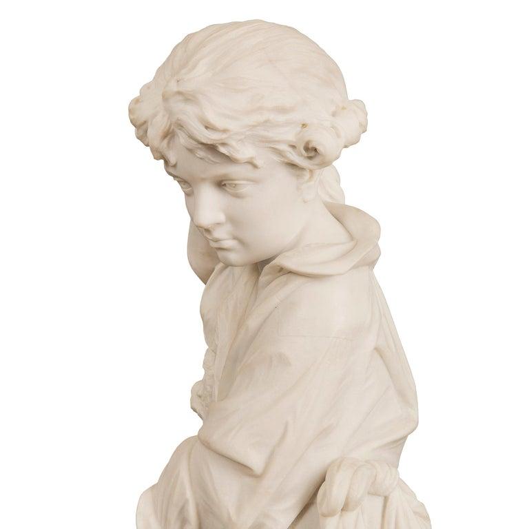 Italian 19th Century Carrara Statue of Benjamin Franklin, Signed Bazzanti For Sale 4