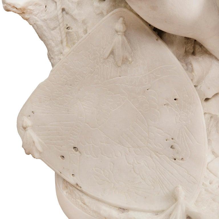 Italian 19th Century Carrara Statue of Benjamin Franklin, Signed Bazzanti For Sale 5