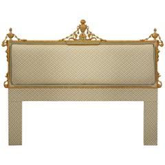 Italian 19th Century Louis XVI Style Giltwood King Size Headboard